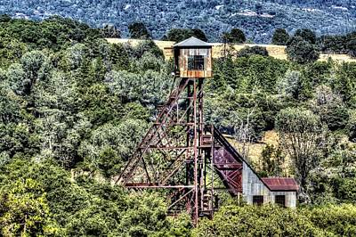 Photograph - Kennedy Mine Head Frame 2 by SC Heffner