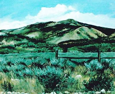 Kennedy Peak In Wyoming Art Print