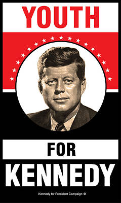 Kennedy Political Poster Print by Gary Grayson