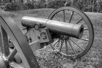 Photograph - Kennesaw Cannon 2 Black And White by Jonathan Harper