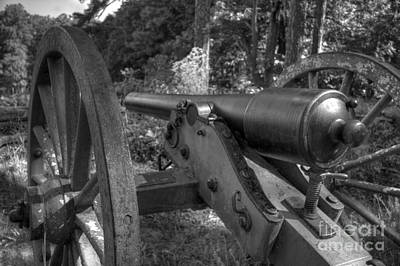 Photograph - Kennesaw Cannon 3 Black And White by Jonathan Harper