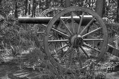 Photograph - Kennesaw Cannon 4 Black And White by Jonathan Harper