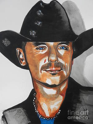Nashville Tennessee Painting - Kenny Chesney  02 by Chrisann Ellis