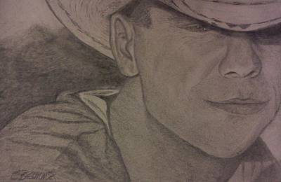 Nashville Drawing - Kenny Chesney by Christy Saunders Church