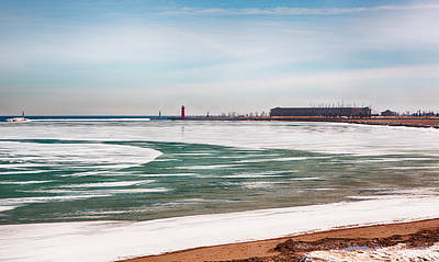 Photograph - Kenosha Lakefront In The Wintertime by Ricky L Jones