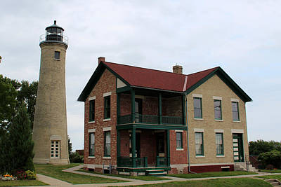Photograph - Kenosha Lighthouse  by George Jones
