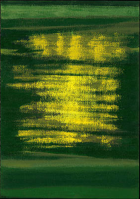 Abstract Expressionist Photograph - Kensington Gardens Series Magic Oil On Canvas by Izabella Godlewska de Aranda