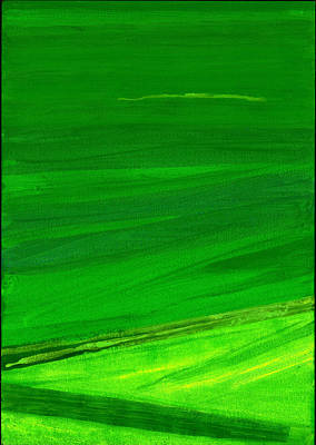 Abstract Expressionist Photograph - Kensington Gardens Series My World Of Green 4 Oil On Canvas by Izabella Godlewska de Aranda