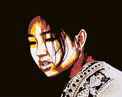 Chinese Market Painting - Kensington Market Girl by Donna Greenstein