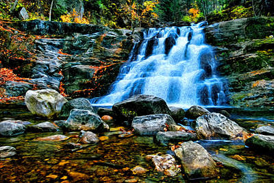 Park Scene Digital Art - Kent Falls Connecticut by Sabine Jacobs
