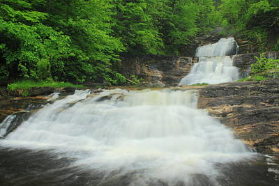Kent Falls Photograph - Kent Falls Waterfall by John Burk