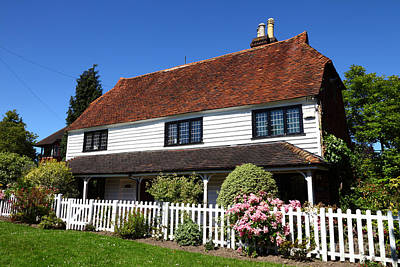 Country Cottage Photograph - Typical Kent Cottage England by James Brunker