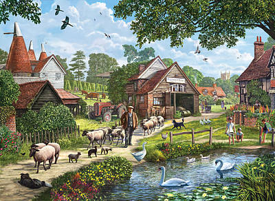 Kentish Farmer Art Print by Steve Crisp