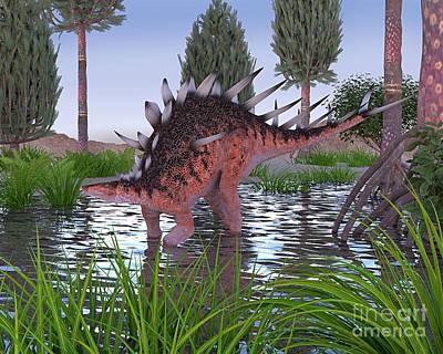 Kentrosaurus Art Print
