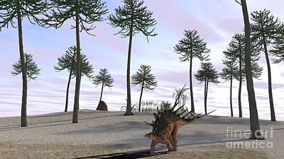 Digital Art - Kentrosaurus Roaming A Prehistoric by Kostyantyn Ivanyshen