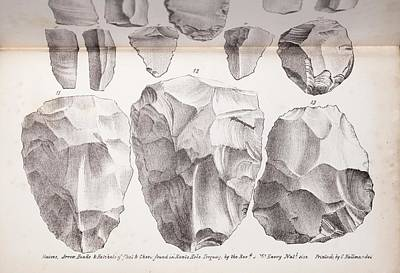 Cavern Photograph - Kents Cavern Stone Tools by Paul D Stewart