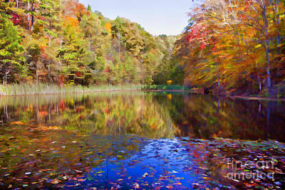 Kentucky Autumn Pond Original by Lena Auxier