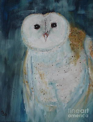 Painting - Kentucky Barn Owl by Shelley Jones
