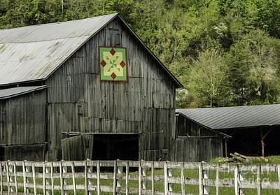 Kentucky Barn Quilt - 3 Art Print by Mary Carol Story