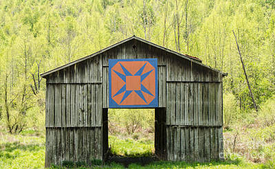 Photograph - Kentucky Barn Quilt - Happy Hunting Ground by Mary Carol Story