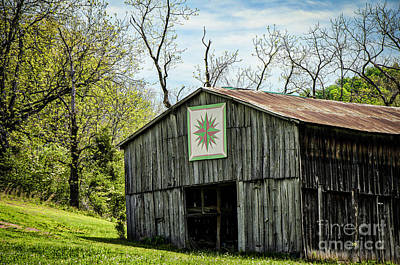 Photograph - Kentucky Barn Quilt - Mariners Compass by Mary Carol Story