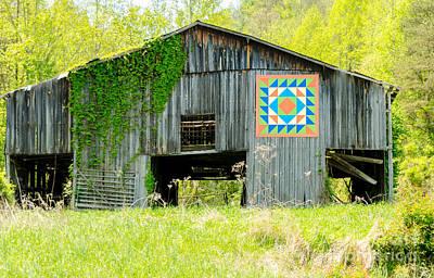 Kentucky Barn Quilt - Thunder And Lightening Art Print by Mary Carol Story