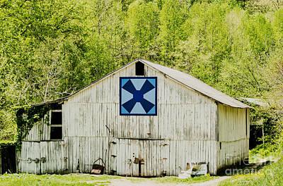 Kentucky Barn Quilt - Windmill Art Print by Mary Carol Story