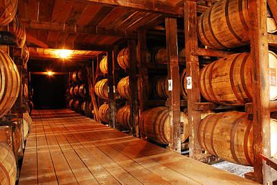 Kentucky Bourbon Aging In Barrels Art Print