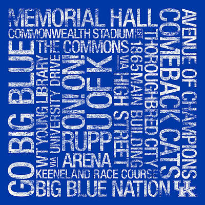 Kentucky College Colors Subway Art Art Print by Replay Photos