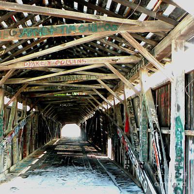 Rickety Bridge Photograph - Kentucky Covered Bridge by Carlee Ojeda