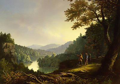 Mountain Valley Painting - Kentucky Landscape 1832 by Mountain Dreams