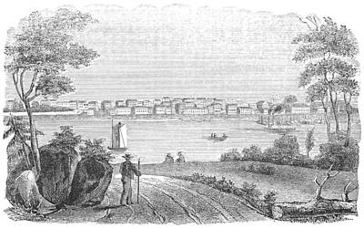 Ohio River Painting - Kentucky Louisville, 1850 by Granger