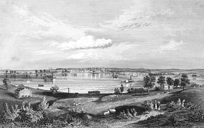 Ohio River Painting - Kentucky Louisville, 1854 by Granger