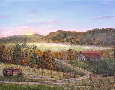 Painting - Kentucky October Morning by William Stewart