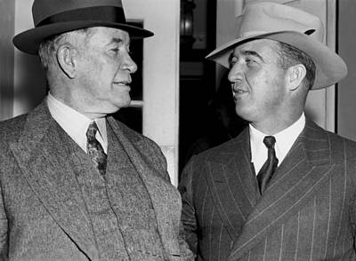 Former Senators Photograph - Kentucky Senators Visit Fdr by Underwood Archives
