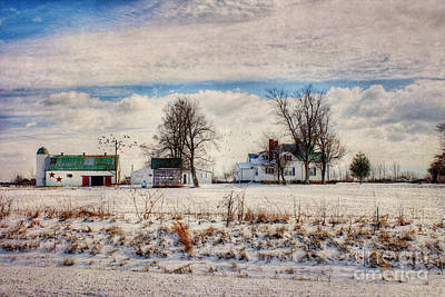 Old House Photograph - Kentucky Snow Day by Darren Fisher