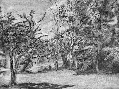 Drawing - Kentucky Trees by Jott DH