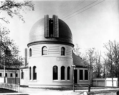 Kenwood Observatory Art Print by Yerkes Observatory, University Of Chicago, Courtesy Emilio Segre Visual Archives/american Institute Of Physics