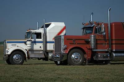 Photograph - Kenworth And Peterbilt Semi Trucks by Tim McCullough