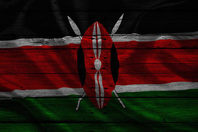 Flag Pole Photograph - Kenya by Joe Hamilton