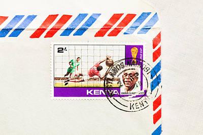 Kenya Stamp Art Print by Tom Gowanlock