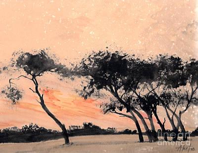 Painting - Kenya Sunrise by Audrey Van Tassell