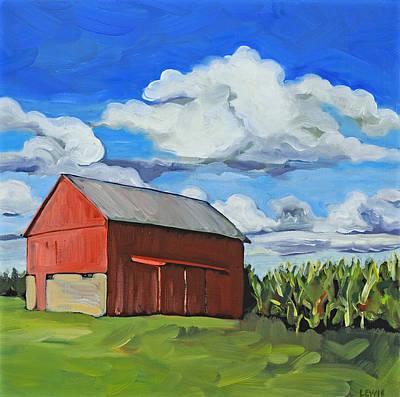 Kenyon Painting - Kenyon Barn by Anne Lewis