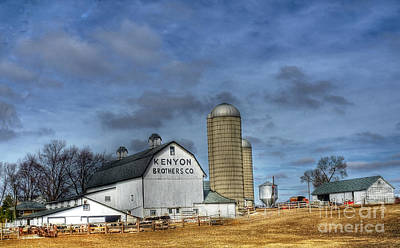 Kenyon Brothers Dairy Art Print by David Bearden