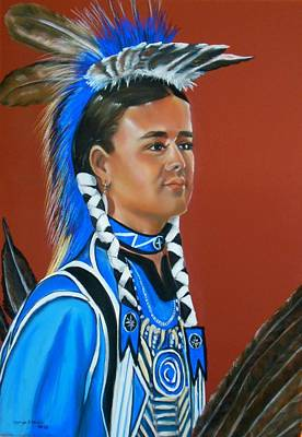 Kenyon Rainer Pow Wow Dancer Art Print by George Chacon