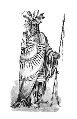 Chief Keokuk Photograph - Keokuk, Sauk Indian Chief by British Library