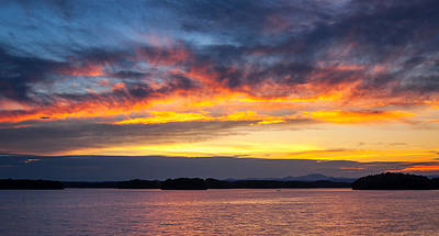 Photograph - Keowee Sunset by Dustin Ahrens