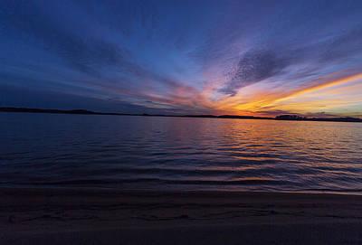 Lake Keowee Photograph - Keowee Sunset by Randy Lesley