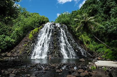 Kepirohi Waterfall, Pohnpei Art Print