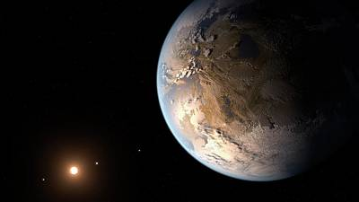 Extrasolar Planet Photograph - Kepler-186f Exoplanet by Nasa/ames/seti Institute/jpl-caltech